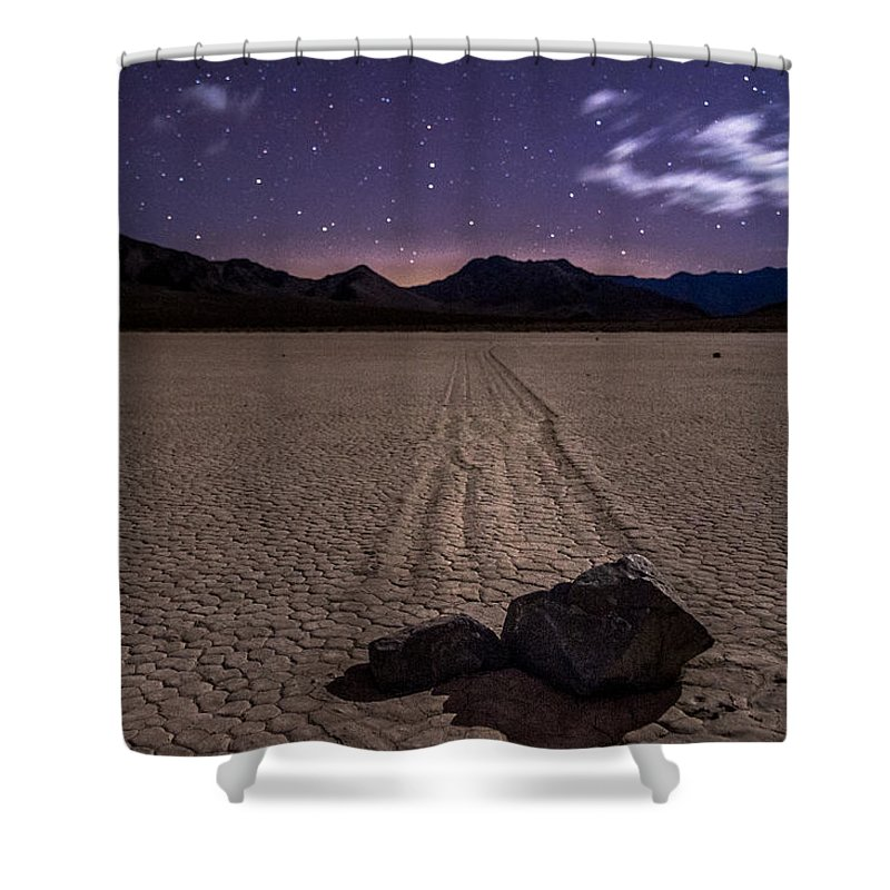 California Shower Curtain featuring the photograph The Racetrack by Cat Connor
