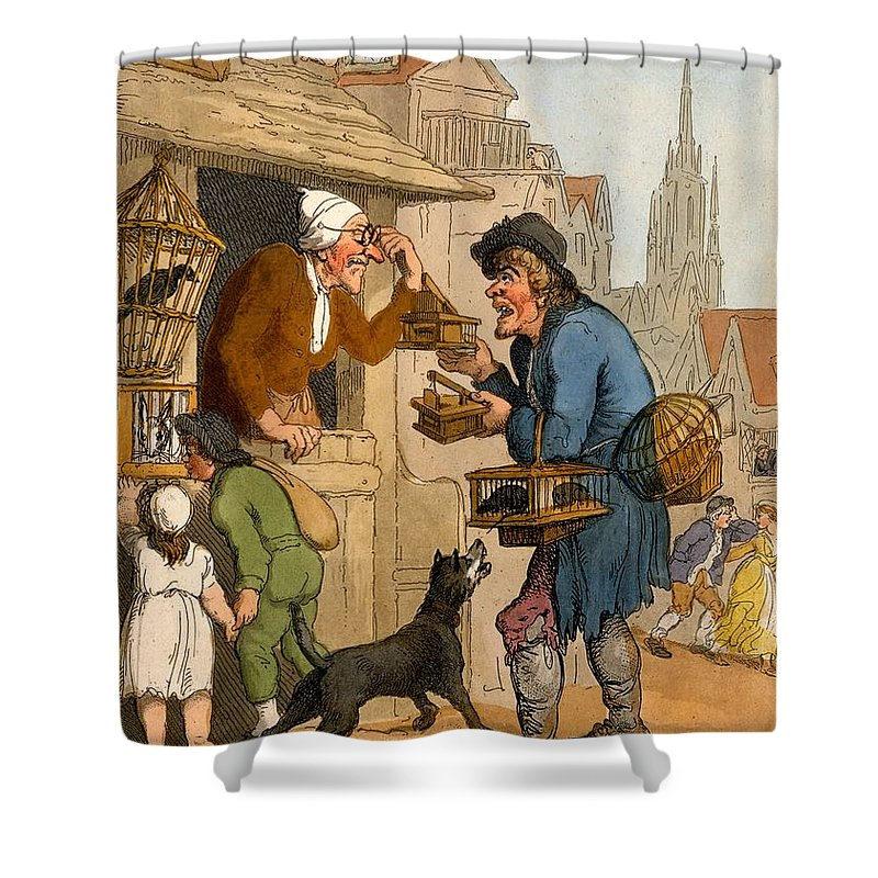 The Rat Trap Seller From Cries Shower Curtain