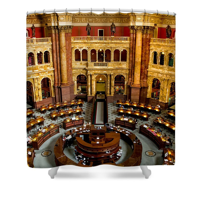 Arlington Cemetery Shower Curtain featuring the photograph The Reading Room by Greg Fortier