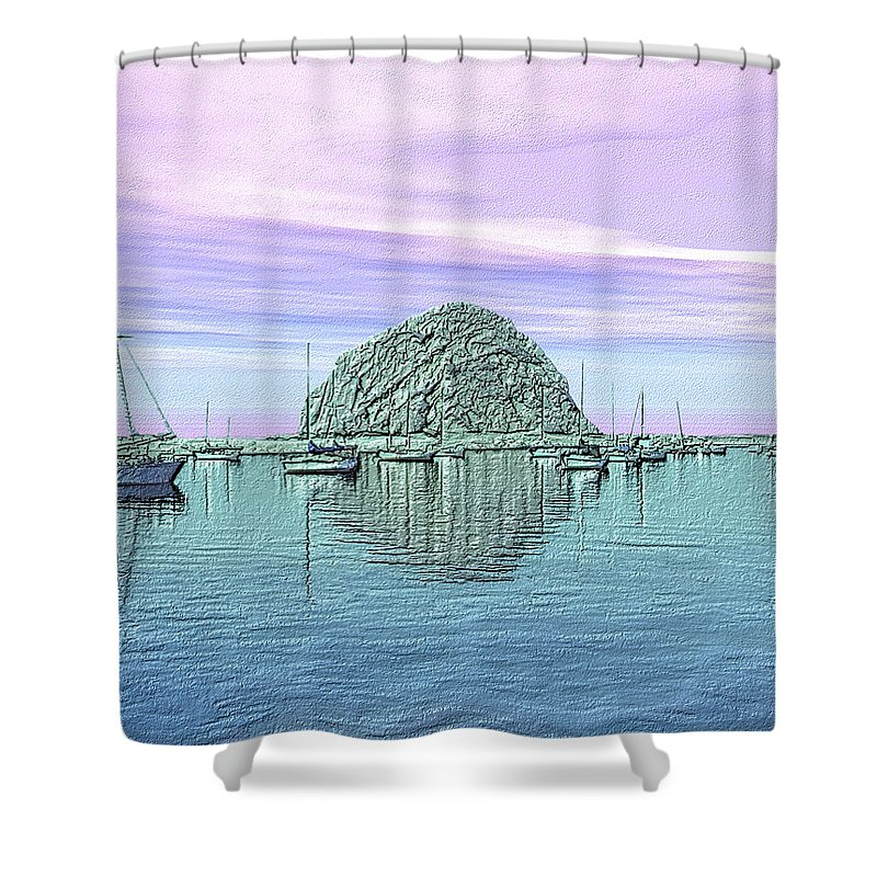 Seascape Shower Curtain featuring the photograph The Rock by Kurt Van Wagner
