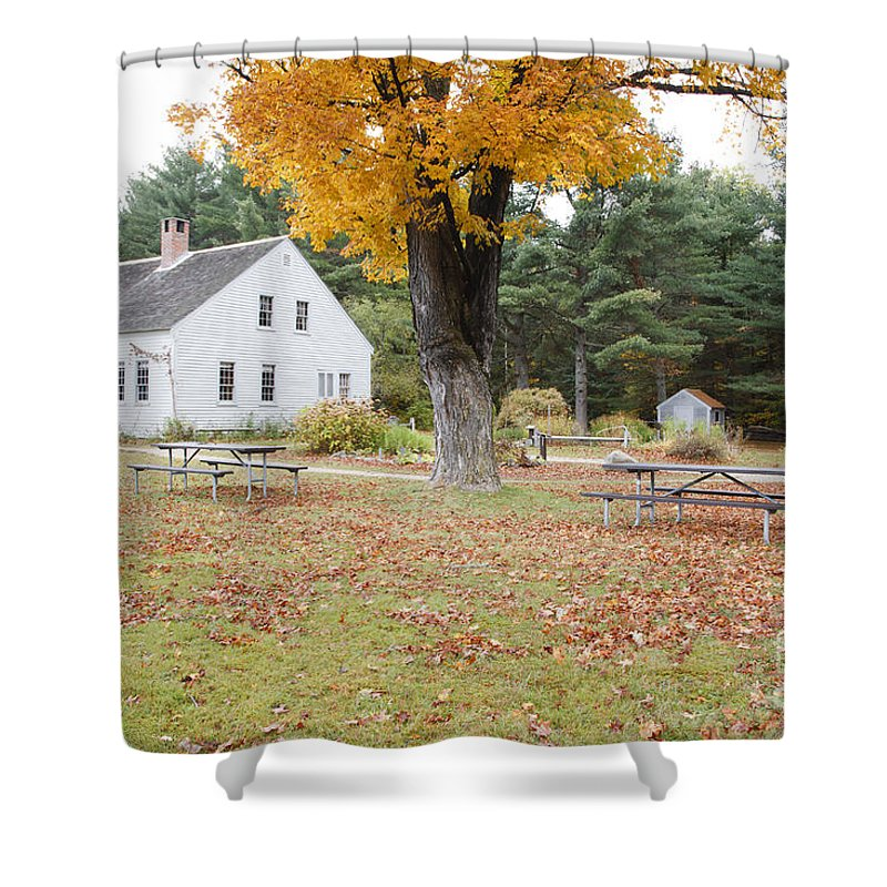 White Mountain National Forest Shower Curtain featuring the photograph The Russell-colbath Historic Homestead - Albany New Hampshire by Erin Paul Donovan