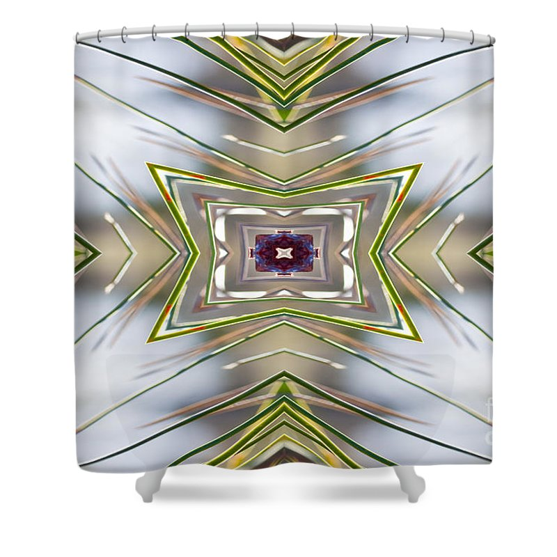 Pine Needles Shower Curtain featuring the photograph The Sacred Pine Mandala Yantra by Marie Jamieson