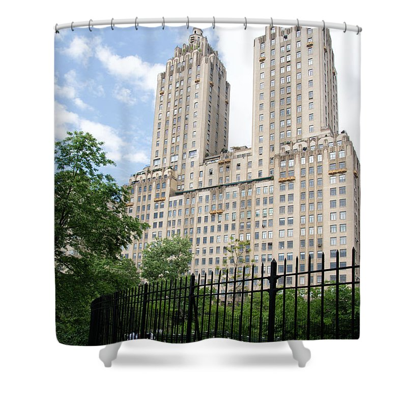 145 And 146 Central Park West Shower Curtain featuring the digital art The San Remo by Carol Ailles
