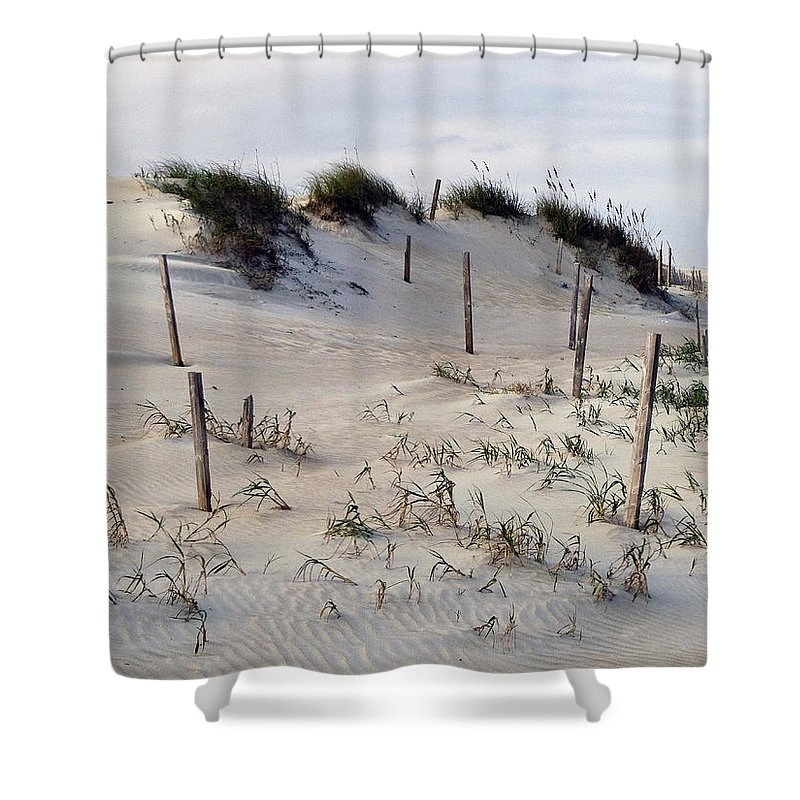 North Carolina Shower Curtain featuring the photograph The Sands Of Obx by Greg Reed