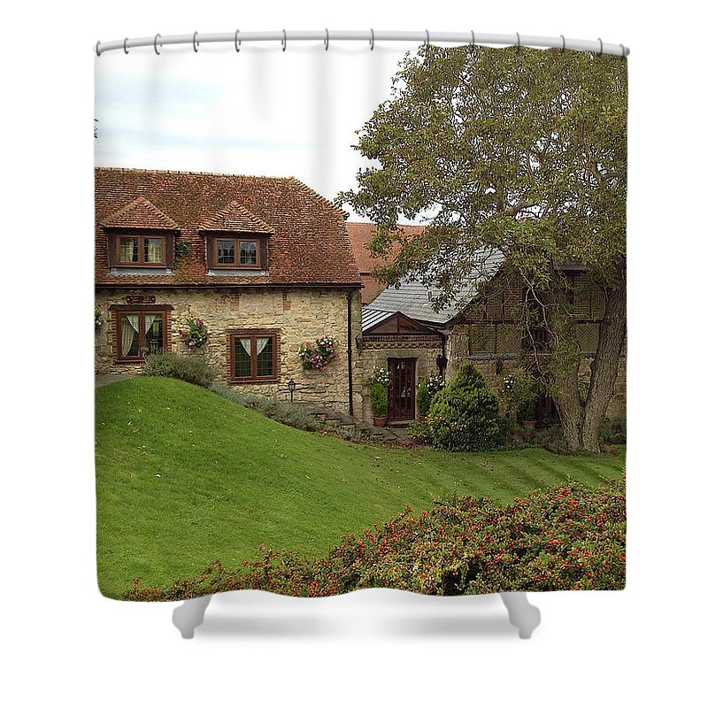 Photograph Shower Curtain featuring the photograph The Shire by Nicole Parks