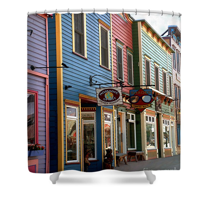 Landscape Shower Curtain featuring the photograph The Shops In Crested Butte by RC DeWinter