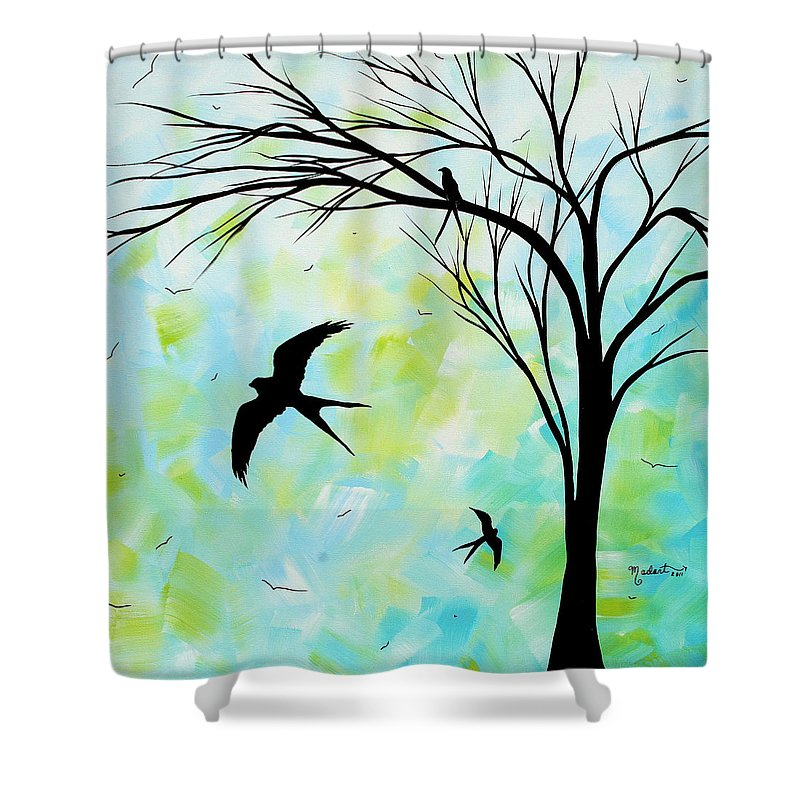 Wall Shower Curtain featuring the painting The Simple Life By Madart by Megan Duncanson