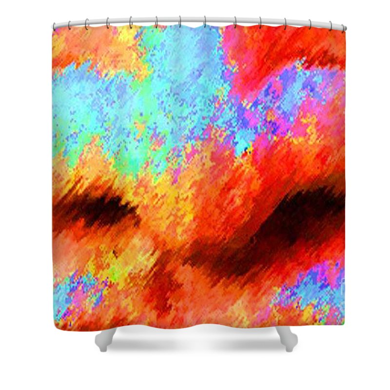 Nose Shower Curtain featuring the painting The Smell Of Color by Jost Houk