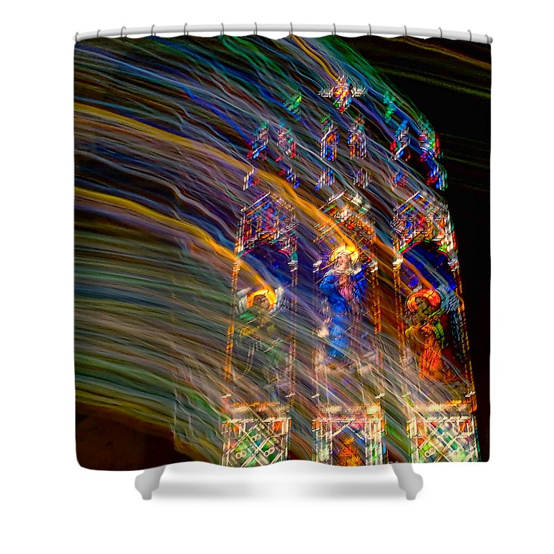 Glass Shower Curtain featuring the photograph The Spirit Of The Saints by Kathleen K Parker