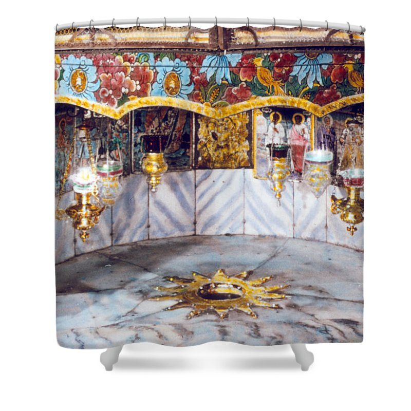 Star Shower Curtain featuring the photograph The Star Close Up 1950 by Munir Alawi