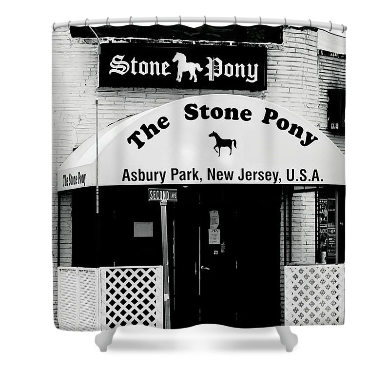 Stone Pony Shower Curtain featuring the photograph The Stone Pony Asbury Park NJ by Terry DeLuco