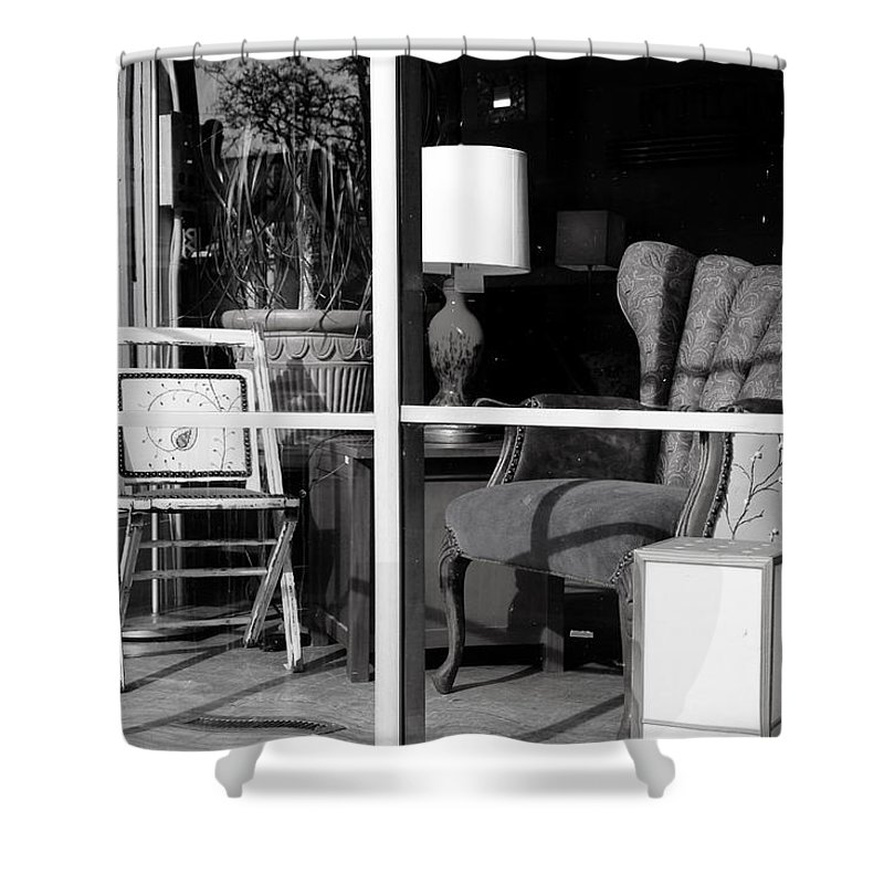Brady Street Shower Curtain featuring the photograph The Storefront by Debbie Nobile