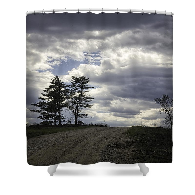 Tree Shower Curtain featuring the photograph The Summit by Fran Gallogly
