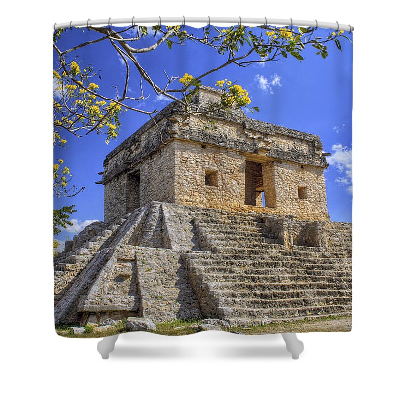 Mayan Shower Curtain featuring the photograph The Temple Of The Seven Dolls by Jason Politte