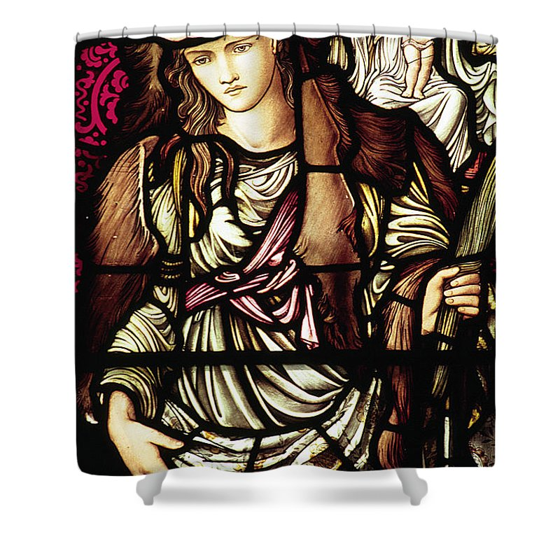 Tibertine Shower Curtain featuring the photograph The Tibertine Sibyl In Stained Glass by Philip Ralley