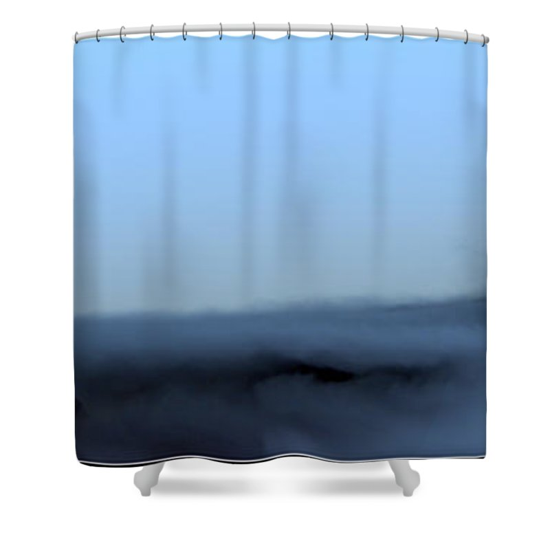 The Titans Tower Shower Curtain featuring the photograph The Titans Tower by Ed Smith