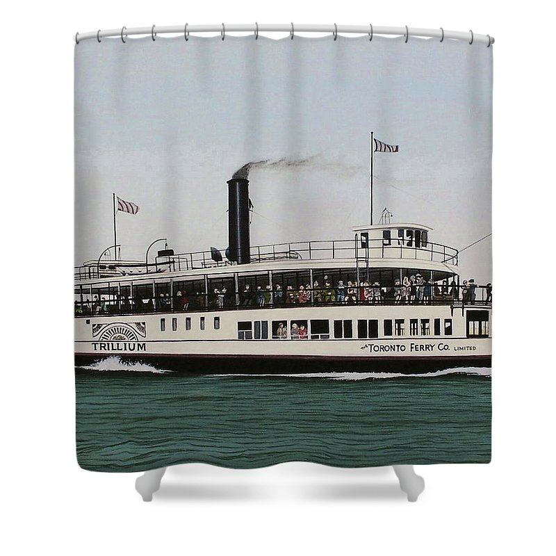 Landscapes Shower Curtain featuring the painting The Toronto Trillium by Kenneth M Kirsch