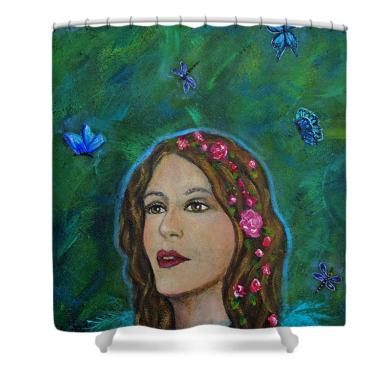 Transformation Shower Curtain featuring the painting The Transformation Of Charlotte by The Art With A Heart By Charlotte Phillips