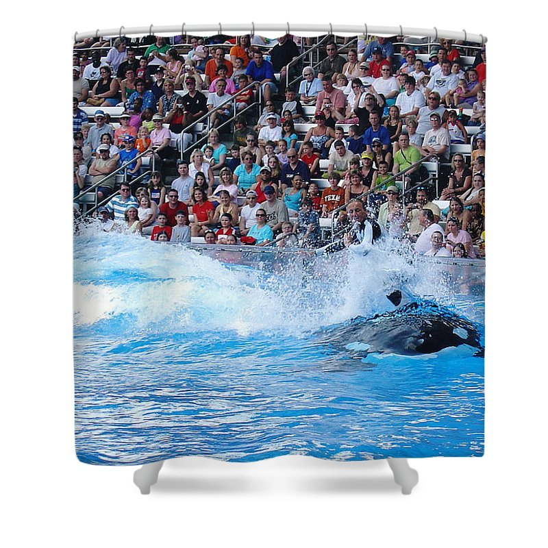 Shamu Shower Curtain featuring the photograph The Ultimate Ride by David Nicholls