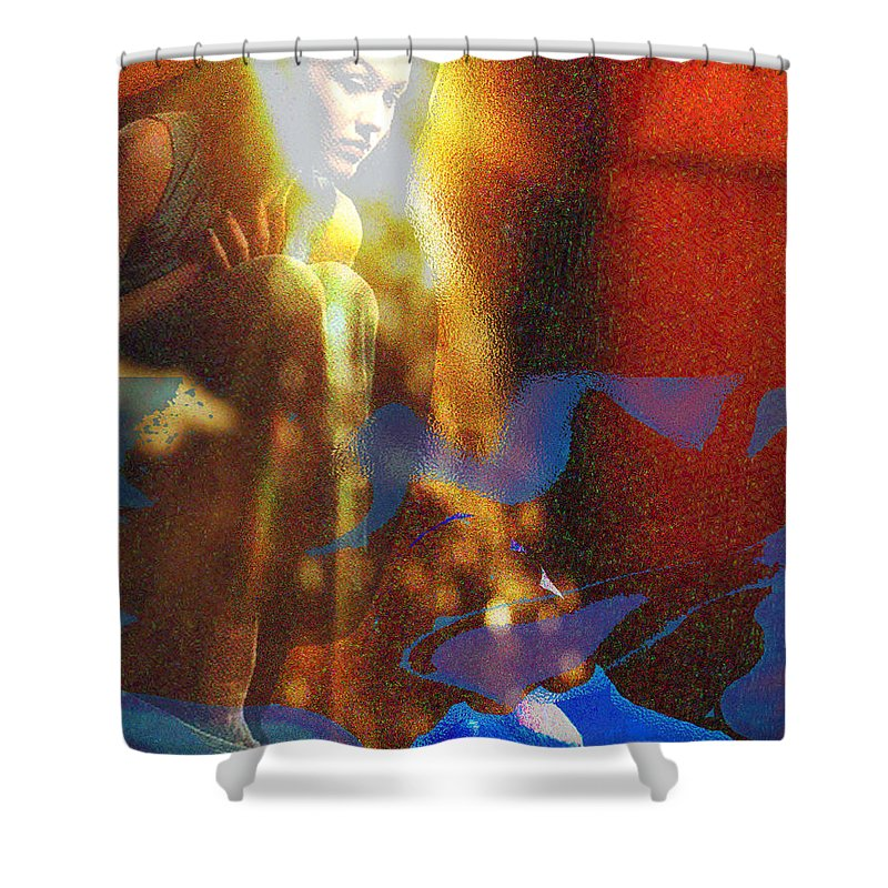 Vision Shower Curtain featuring the digital art The Vision by Seth Weaver