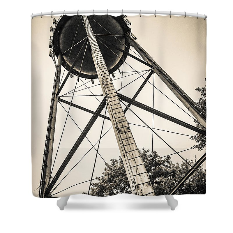 Water Shower Curtain featuring the photograph The Water Tower by Edward Fielding
