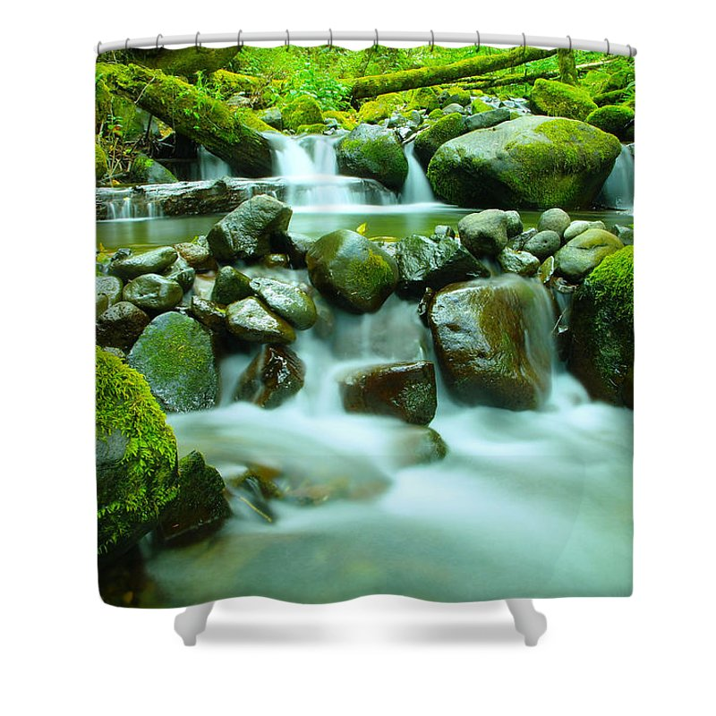 Healing Shower Curtain featuring the photograph The Way Of Healing Water by Jeff Swan