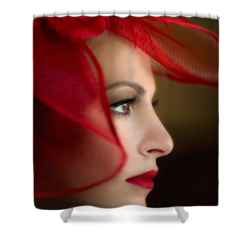 Face Shower Curtain featuring the photograph The Way You Look Tonight by Evelina Kremsdorf