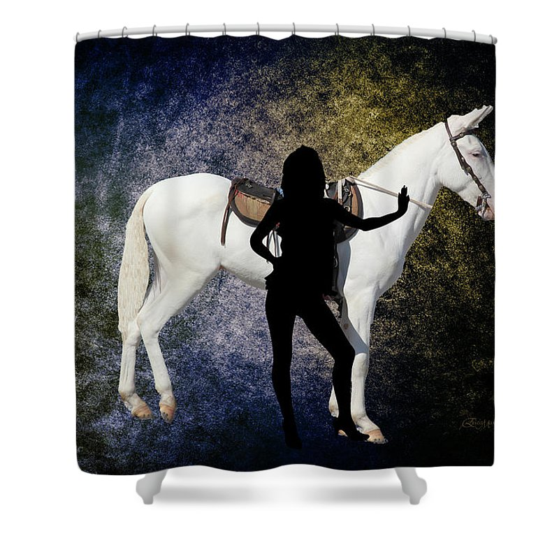 Mule Shower Curtain featuring the photograph The White Mule by Ericamaxine Price