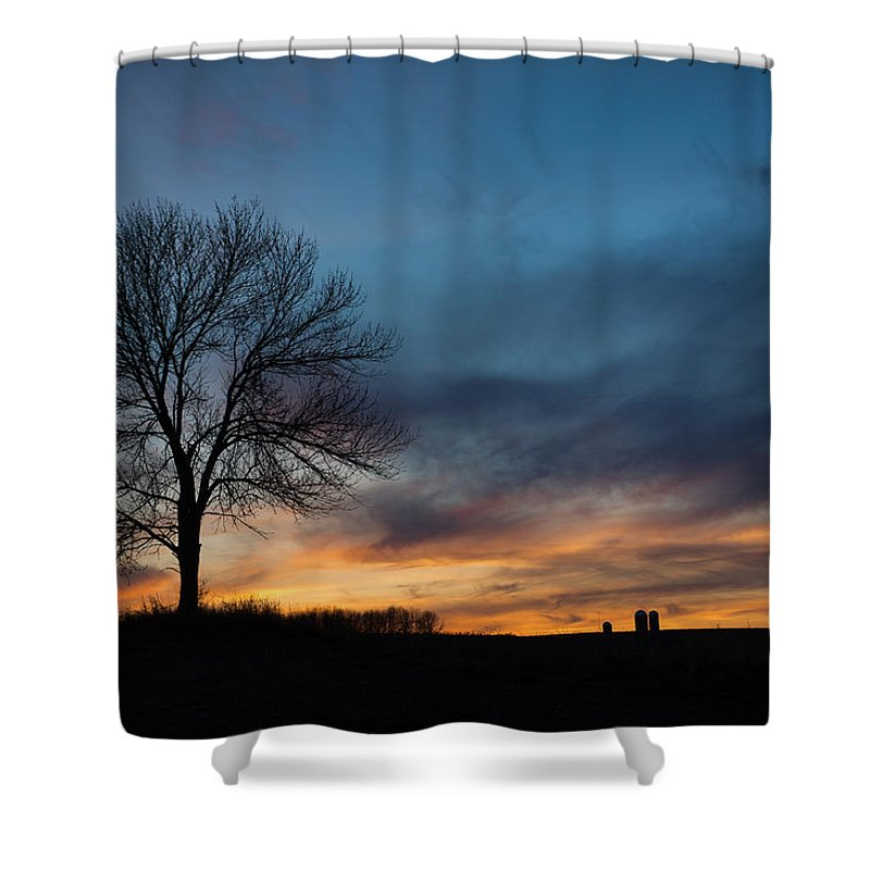 Bill Pevlor Shower Curtain featuring the photograph The Wild Blue by Bill Pevlor