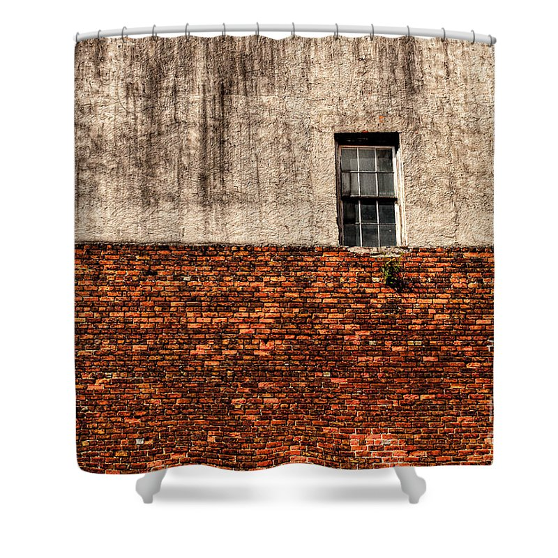 Window Shower Curtain featuring the photograph The Window Above by Frances Hattier
