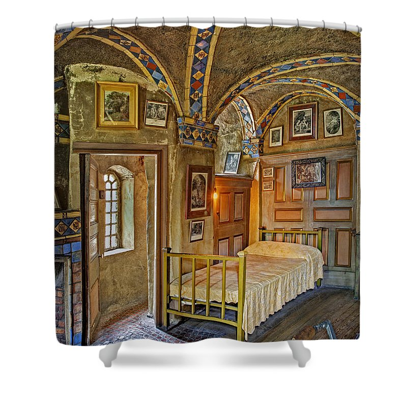 Byzantine Shower Curtain featuring the photograph The Yellow Room At Fonthill Castle by Susan Candelario