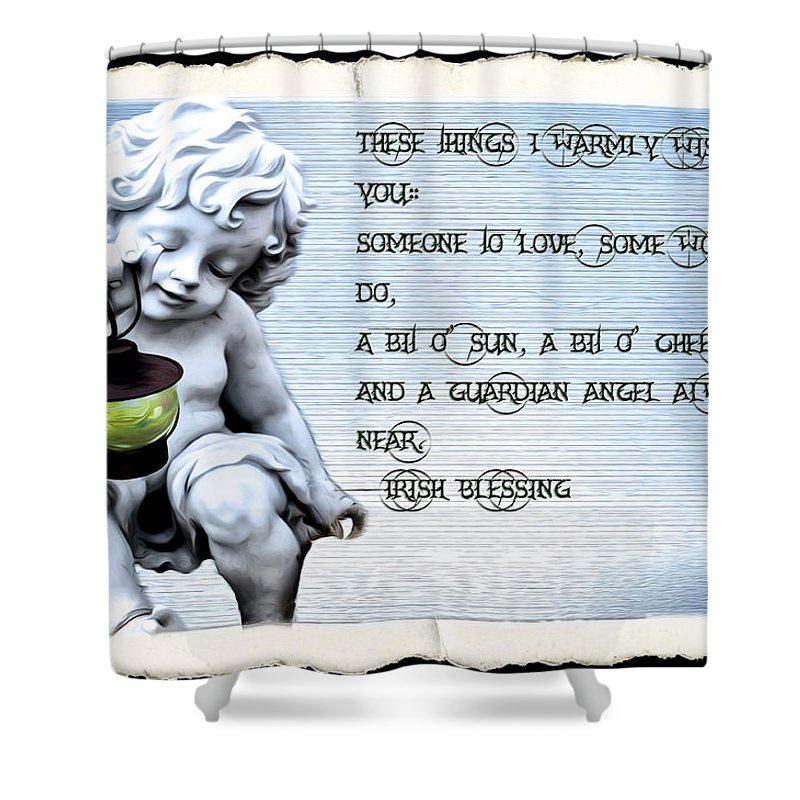 Angel Shower Curtain featuring the photograph These Things I Warmly Wish For You by Bill Cannon