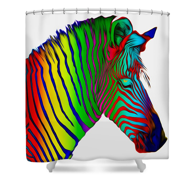 Rainbow Shower Curtain featuring the photograph Think Anyone Will Notice by Shanna DuGrosse