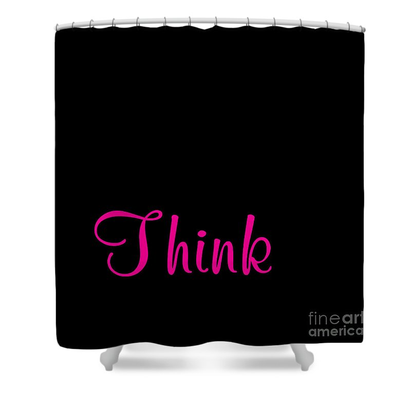 Think Shower Curtain featuring the digital art Think by Voros Edit