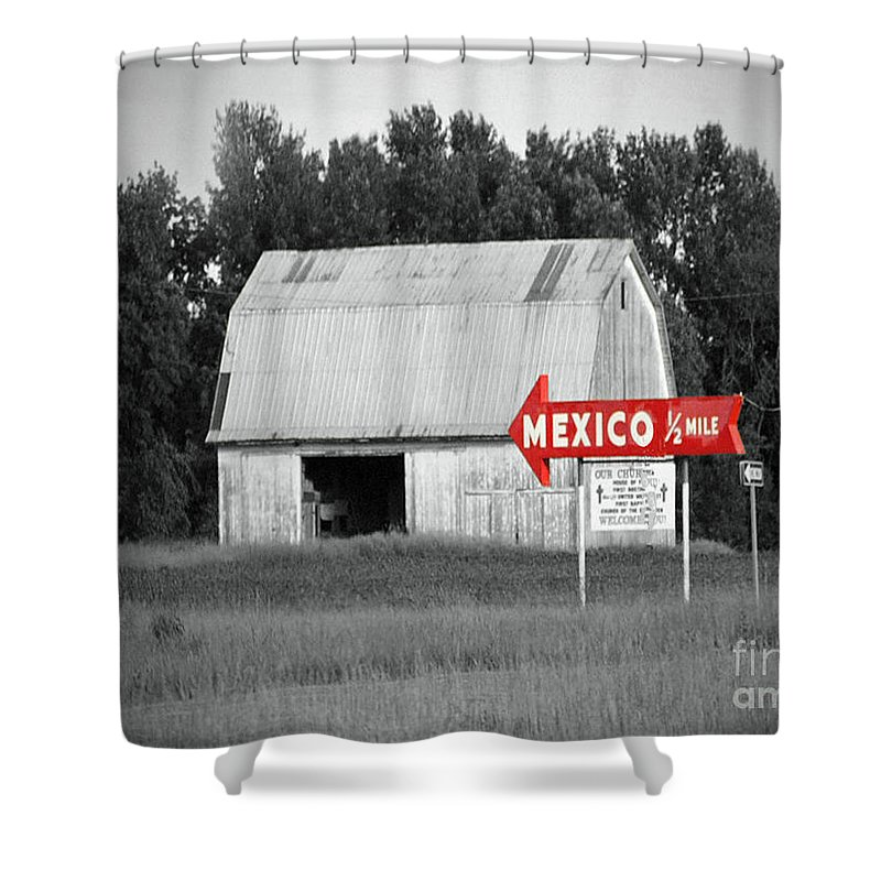 Mexico Shower Curtain featuring the photograph This Way To Mexico by Jost Houk