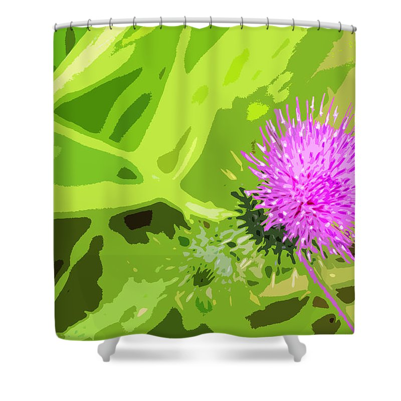 Thistle Shower Curtain featuring the photograph Thistle by Nancy Merkle