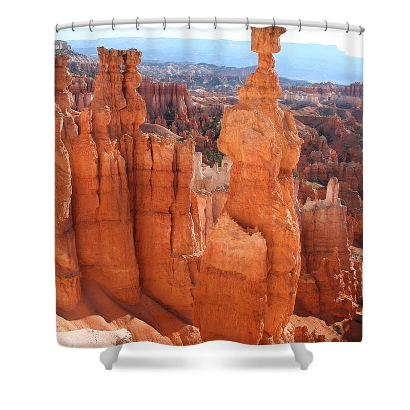 Canyon Shower Curtain featuring the photograph Thors Hammer - Bryce Canyon by Christiane Schulze Art And Photography