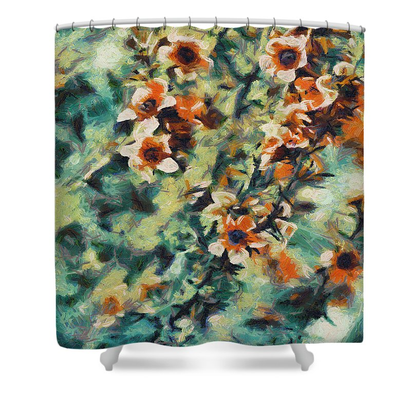 Flower Shower Curtain featuring the digital art Those Little Moments by Joe Misrasi