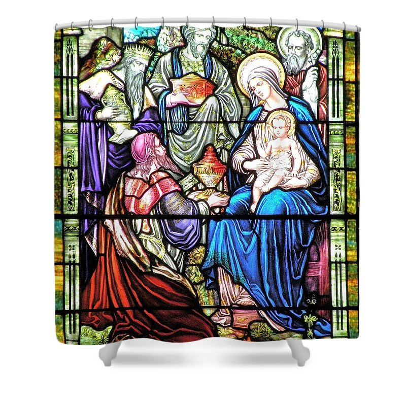 Christmas Shower Curtain featuring the photograph Three Wise Men - Visitation Of The Magi by Kim Bemis