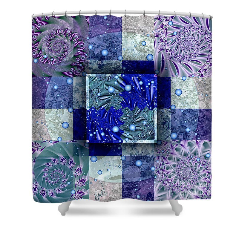 Tidepools Shower Curtain featuring the digital art Tidepools by Kimberly Hansen
