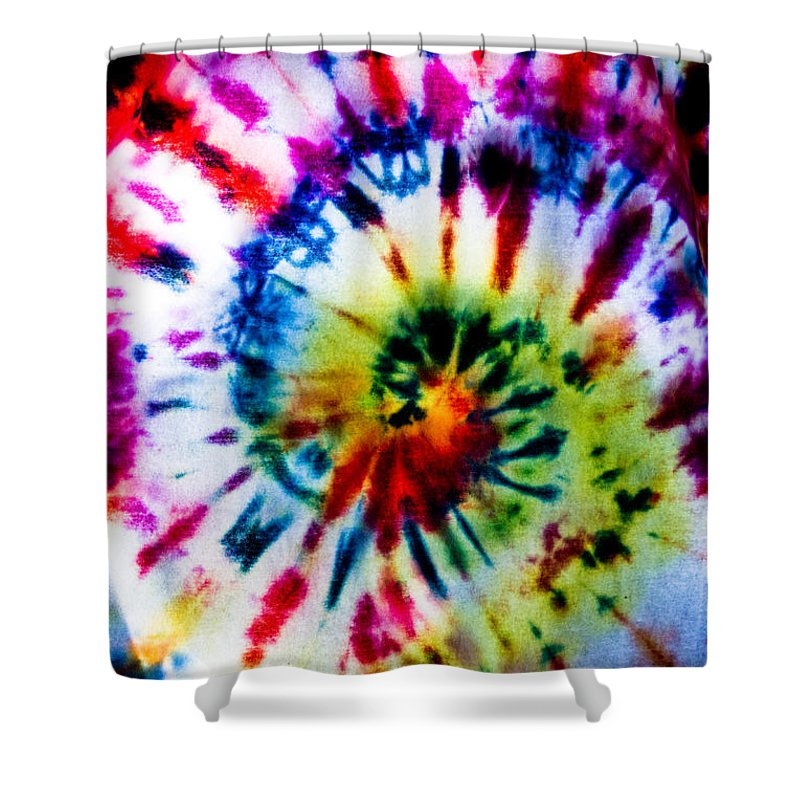 Tie Dye Shower Curtain featuring the photograph Tie Dyed T-shirt by Cheryl Baxter