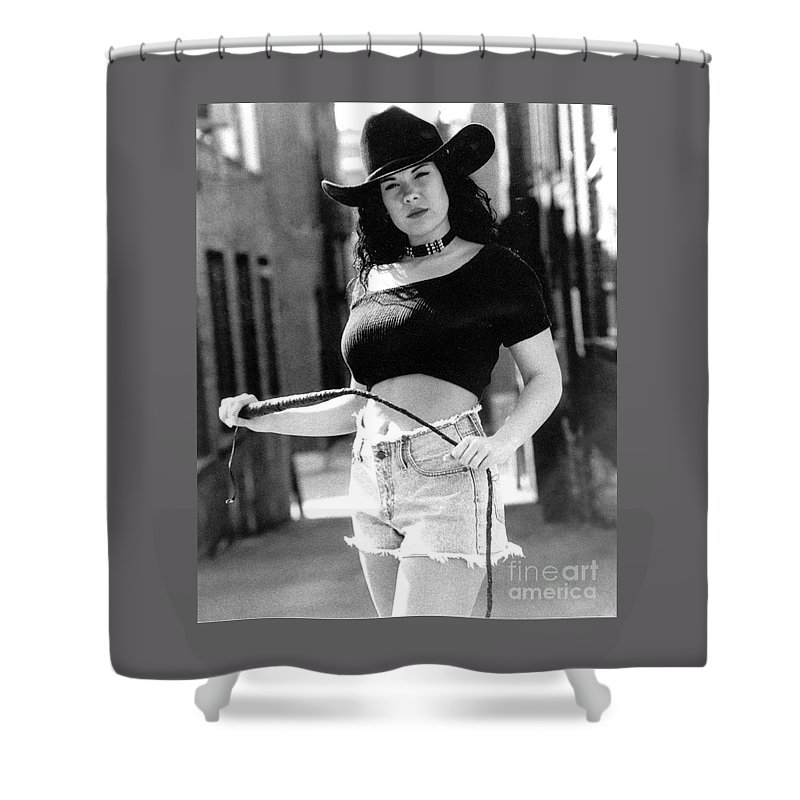 Model Shower Curtain featuring the photograph Tiffany Whip by Gary Gingrich Galleries