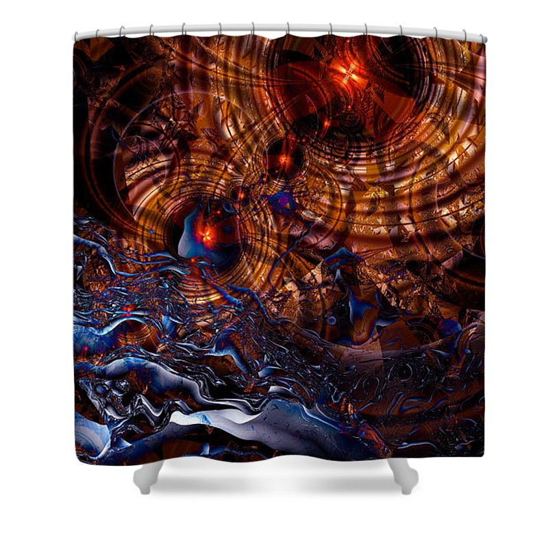 Time After Time Shower Curtain featuring the digital art Time After Time by Kimberly Hansen