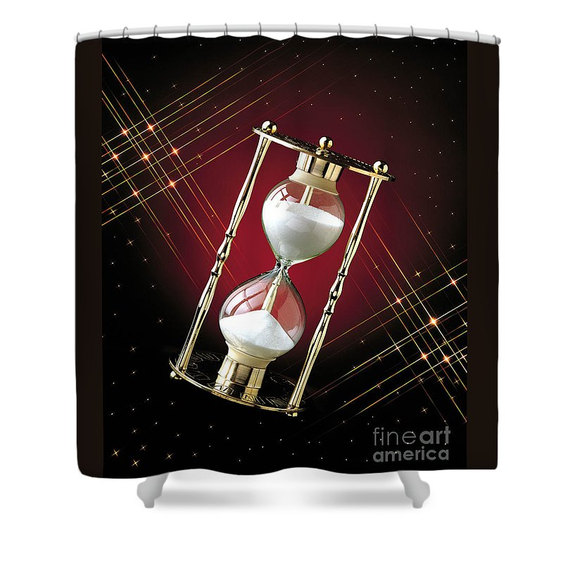 Hour Glass Shower Curtain featuring the photograph Time And Space by Gary Gingrich Galleries