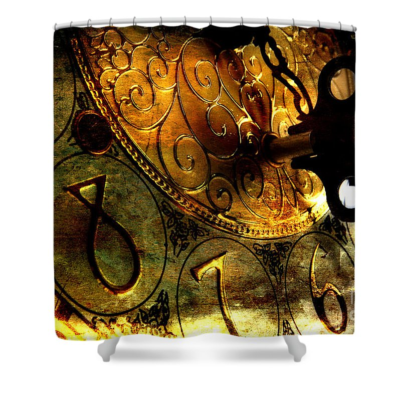Clock Shower Curtain featuring the photograph Time Secrets by Michael Eingle