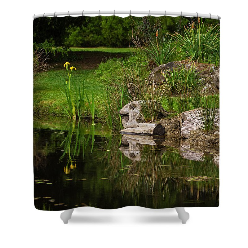Water Shower Curtain featuring the photograph Time To Reflect by Jordan Blackstone