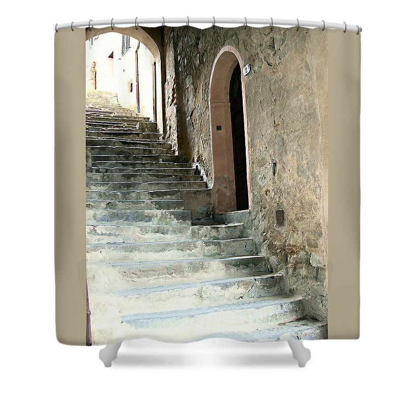 Time-worn Passage Shower Curtain featuring the photograph Time-worn Passage by Ellen Henneke