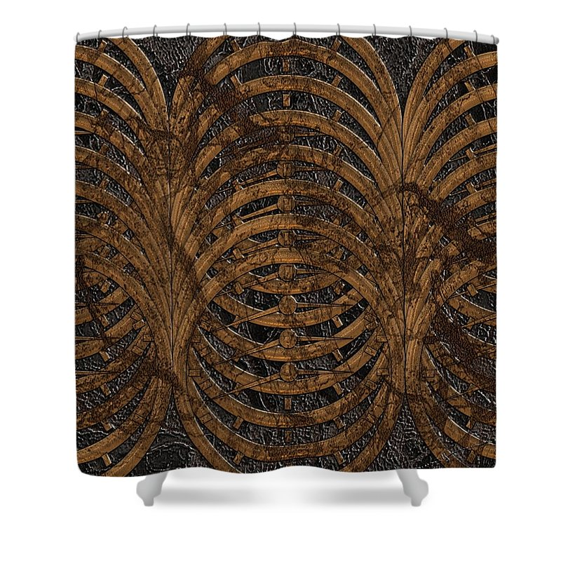 Time Shower Curtain featuring the digital art Timed Out by Michael Hurwitz