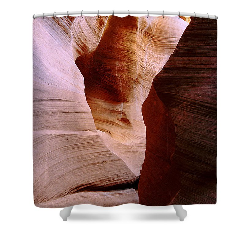 Antelope Canyon Shower Curtain featuring the photograph Timeless by Kathy McClure