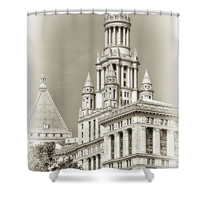 New York City Shower Curtain featuring the photograph Timeless- New York City Hall by Regina Geoghan